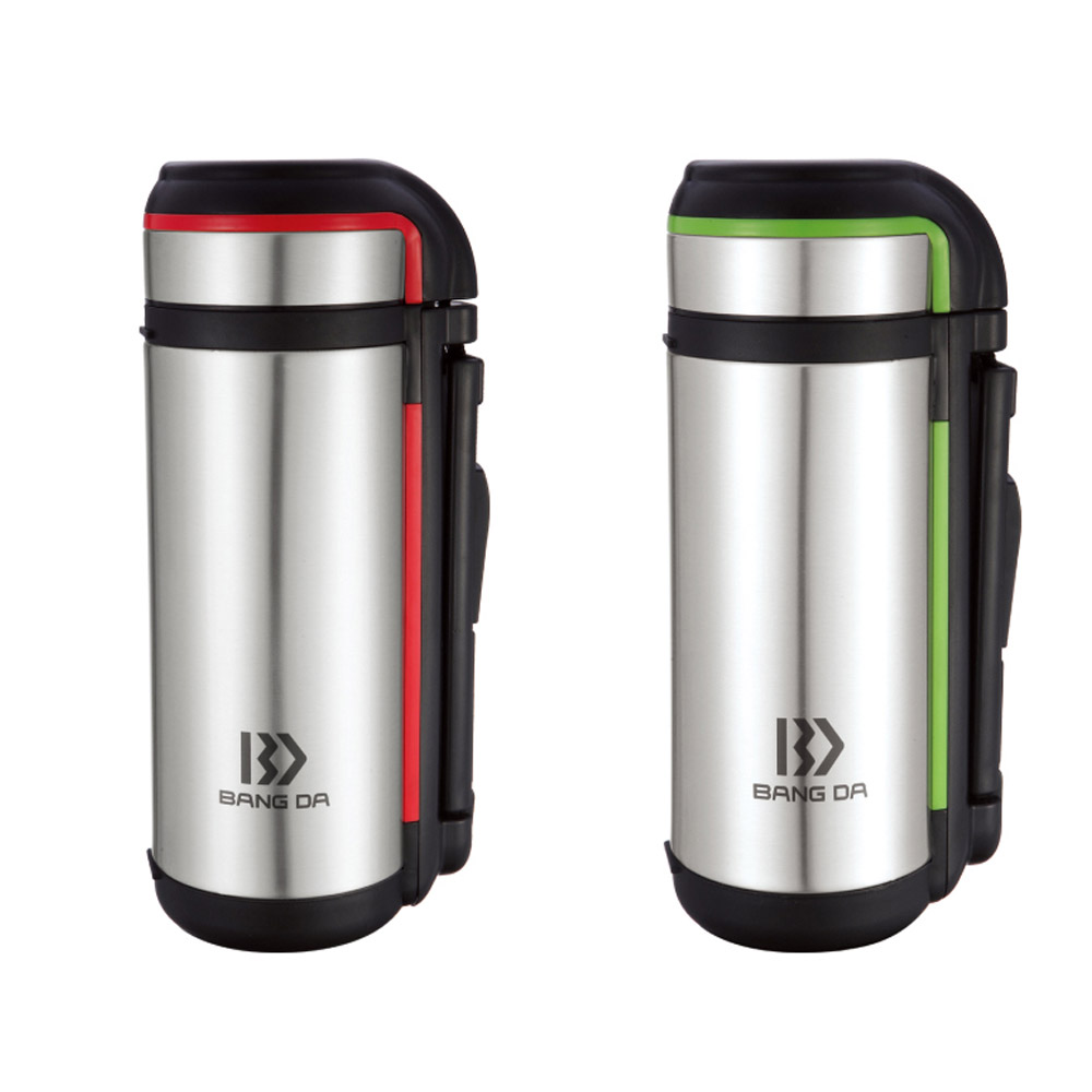 stainless steel vacuum insulated travel bottle with handle