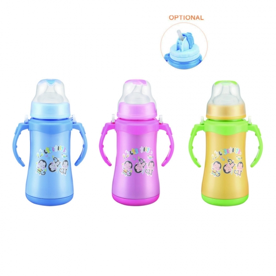 Children Sipper Straw Water Bottle